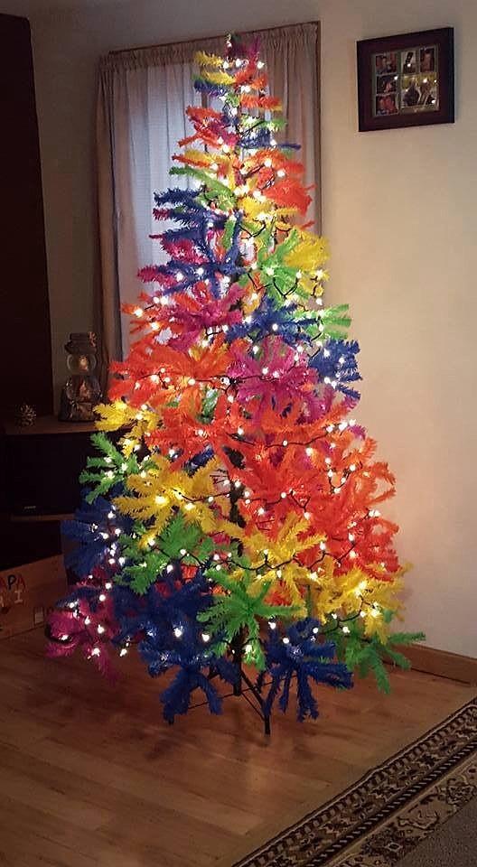 Tie Dye Christmas Tree
