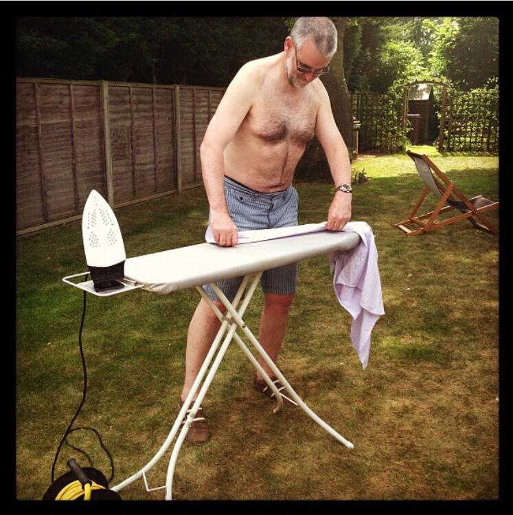Fetish ironing naked